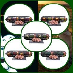 Profine Salami en af hver variant 5 X 800 gr.